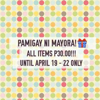 ALL ITEMS 30 PESOS ONLY!