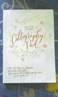 Calligraphy pad