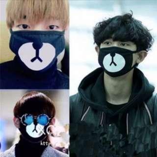 (INSTOCKS) V//Taehyung & Chanyeol Black Bear Mask