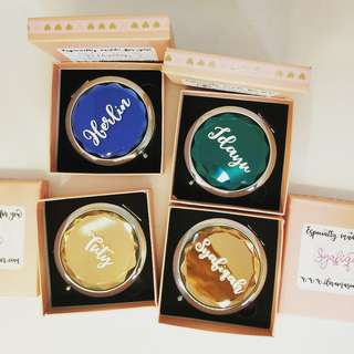 Personalized compact makeup mirror | mother day gift