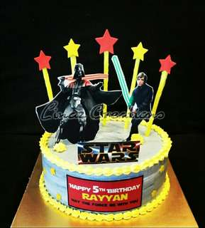 StarWars Theme Birthday Cake   Need a CUSTOMISED CAKES?  Contact us at 86069748 (Lina) / 92704523 (Yen)  #linazcreations