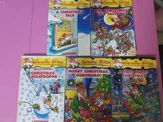 Geronimo Stilton Christmas books (5books)