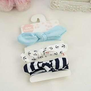 Instock - 3pc assorted headband, baby infant toddler girl children cute glad 123456789 lalalala