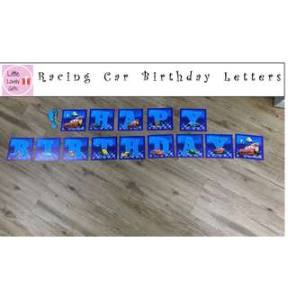 Racing Car Birthday Letters