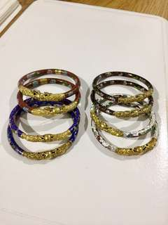 Double Dragon Cloisonne Bangles