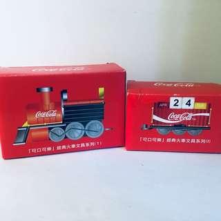 Coca Cola Train Date Display Set