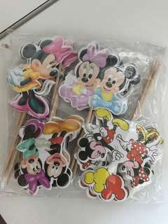 Disney Mickey Minnie Mouse Toppers 24pc