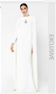 Fiziwoo jubah cape in ivory white