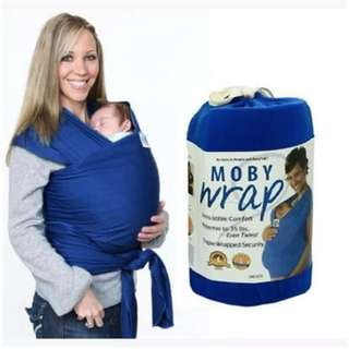 Blue Moby wrap baby carrier