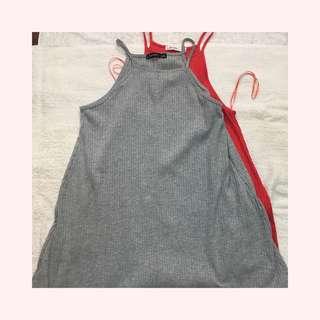 Bershka Gray Dress