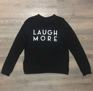 H&M Laugh More Women Black Pullover
