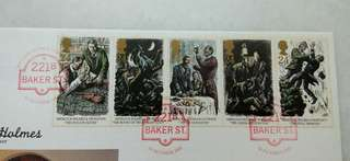 Great Britain UK England Sherlock Holmes Stamps & Special Postmark #2