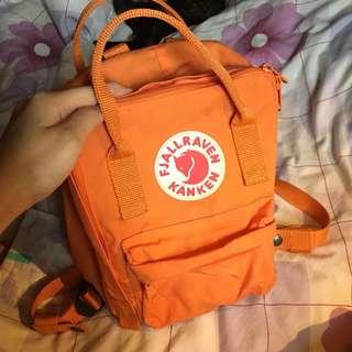 Fjallraven Kanken mini orange backpack
