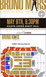 Bruno mars 24k magic concert ticket