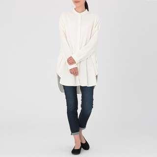Muji White Organic Cotton Tunic