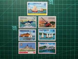 [均一價$10]1970年代 格林納達/格林納丁斯 船隻 新票七枚