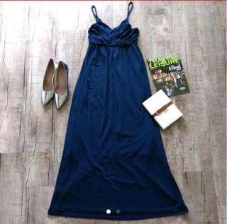 Dark blue long dress gown