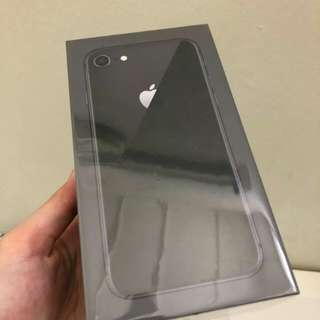 SEALED NEW iphone 8 64GB space grey MY set