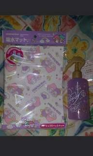Little twin stars Place mat and spray mist bottle