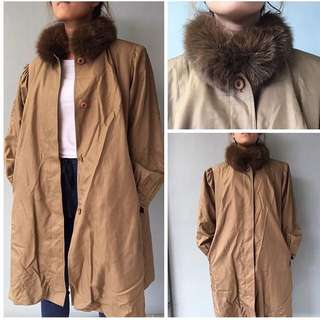 Long Trench Coat with fur