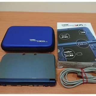 【N3DS LL】任天堂 Nintendo New 3DS LL 日規機 海軍藍 送4G卡+保護套+硬殼包 盒裝
