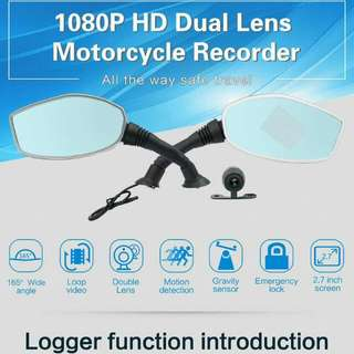 HD DUAL MIRROR CAM FOR MOTORCYCLE