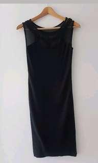 black wool silk kookai dress
