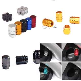 4Pcs/lot Universal Aluminum Car Tyre Air Valve Caps, Bicycle Tire Valve Cap, Car Wheel Styling Round