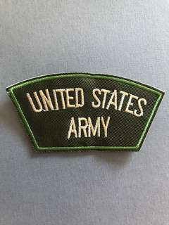 Bn iron on patch us army