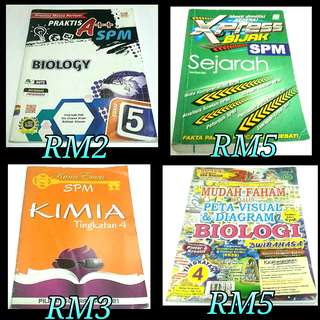 Preloved SPM books @ Buku SPM
