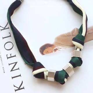 Fabric Necklace Green