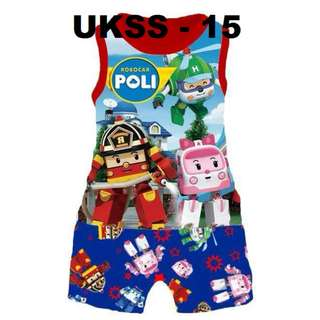 Robocar Poli Sleeveless Tshirt/Short Set
