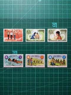 [均一價$10]1970年代 格林納達/格林納丁斯/安提瓜 童軍運動 新票六枚