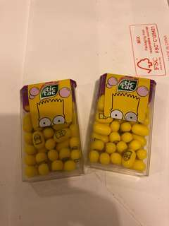 Lot of 2 tic tac Simpson 18g (包平郵)