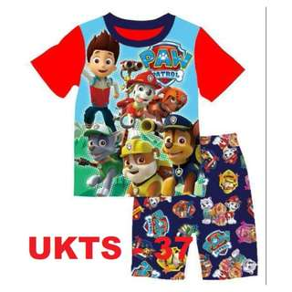 Paw Patrol Short Sleeve Tshirt/Shorts Set for (2 - 7 yrs old) Instock