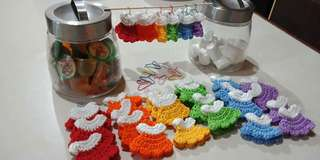 Rainbow Mini Dress Crochet Souvenirs for Baptismal, Birthdays , Debut / Party