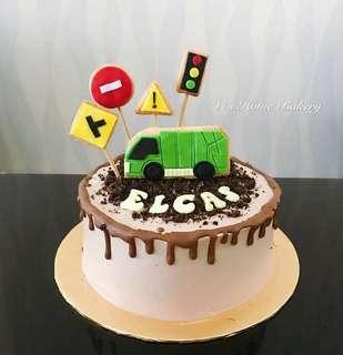 Truck theme - Chocolate Oreo Cake