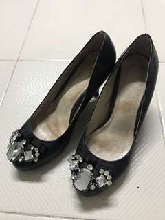 Genuine Lamb Leather Heels