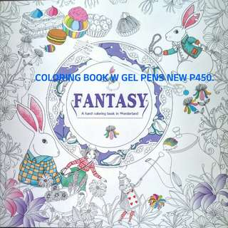 FANTASY a hand coloring book in Wonderland with gel pens