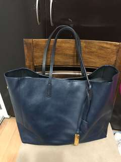 Authentic Rabeanco Large Leather Tote Bag