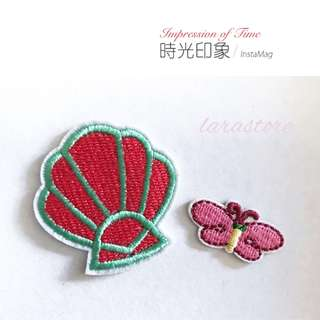 Bn shell/butterfly iron on patch