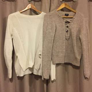 2 x knit jumpers bardot and Maurie & eve