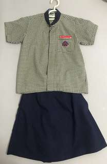 School uniform - Anderson Pr Sch.  Girls skirt for size 23 - brand new 2 pcs.  1 for $7, buy 2 pcs for $12.  Used skirt size 23 & 25 for $3 each.  Used shirt for size 32 & 38 for $3 each.  I also hv used PE shorts & Ruby PE tshirt to give away free.