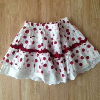Red polka dots skirt