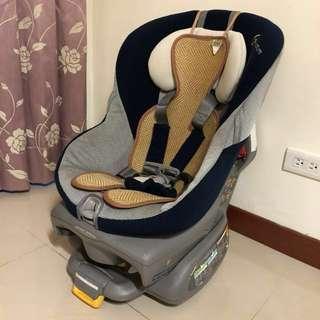二手Combi 頂級Zeusturn EG 360度旋轉 0-7歲嬰幼兒成長型汽車安全座椅 新生兒適用 贈送狐狸村涼蓆