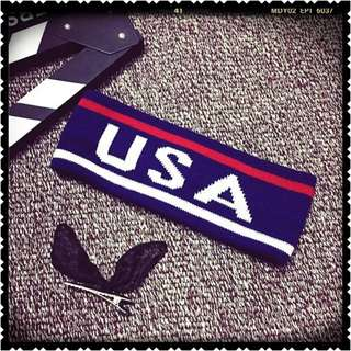 [NEW IN-STOCK] USA Headband - Blue/Red/White