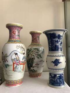 Lot Of Two Porcelain vases