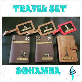Personalised travel set * Luggage Tag * Travel Accessories