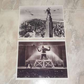 "Lot Of 2 King Kong 8 x 10"" Photos RKO Empire State Building 1933 Radio Pictures Fay Wray"