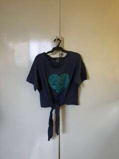 Glittered Heart Top